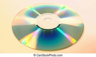 Close-Up of a CD, isolated - One isolated CD (Compact Disc),...