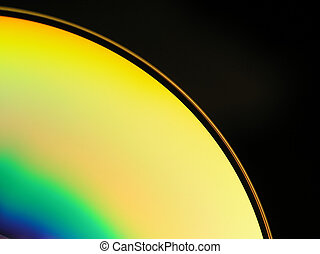 cd-rom - Close-up of a cd-rom with colourful abstract ...