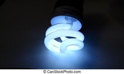 Close up of a CFL Bulb