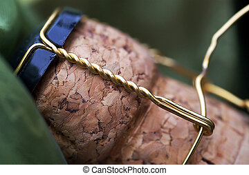 Close up of a champagne cork