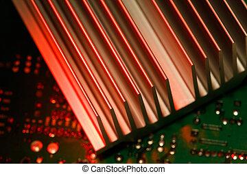 chipset heatsink - Close up of a chipset heatsink on...