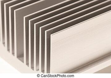 chipset heatsink - Close up of a chipset heatsink on ...