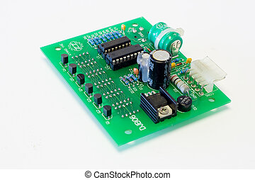 circuit board - close-up of a circuit board with components...