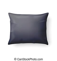 Pillow - Close Up of a Classic Black Pillow Isolated on...