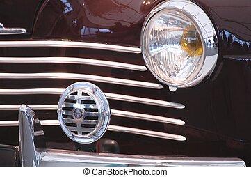 Close up of a classic car