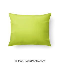 Pillow - Close Up of a Classic Pillow in Lime Color Isolated...