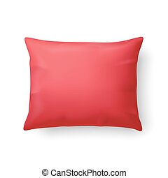 Pillow - Close Up of a Classic Red Pillow Isolated on White...
