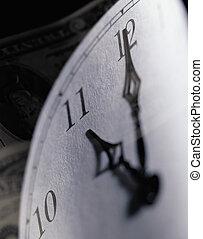 Close-up of a Clock Face