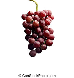 Close up of a cluster of red grapes