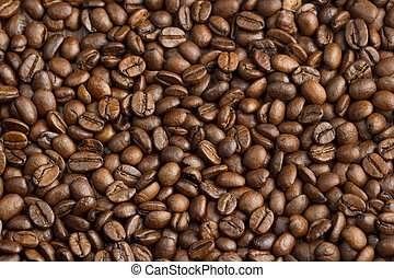close up of a coffee beans background