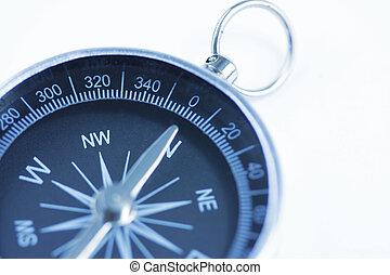 compass - close up of a compass with slight blur filter...