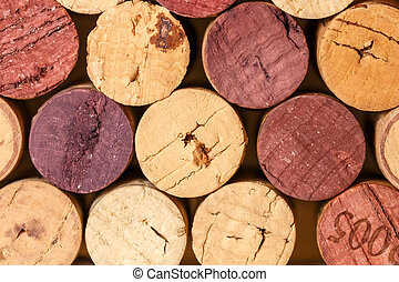 Close up of a cork wine