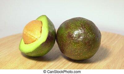 Close-up of a delicious avocado rotating