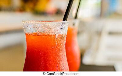 Close up of a delicious Campari orange cocktail - Close up ...