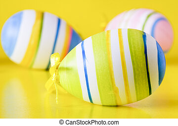 close-up of a easter eggs