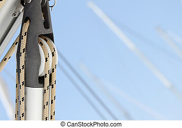 Close-up of a fasten rope