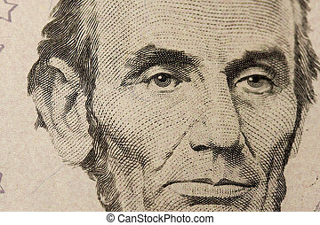 Close-up Of A Five Dollar Note
