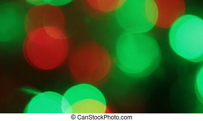 Close-up of a flicker of colored lights. Christmas and new...