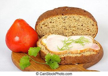 Close-up of a fresh sandwich