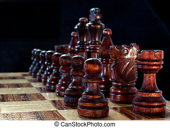 Close Up of a Game of Chess
