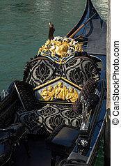 Close-up of a Gondola seat