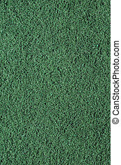 Close-up of a green cleaning sponge