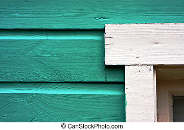 close up of a green door