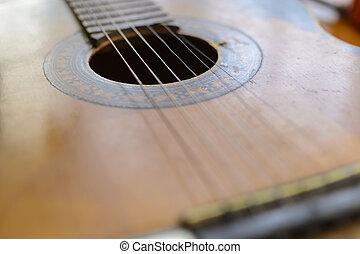 Close up of a guitar