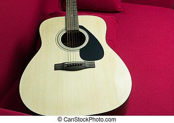 Close-up of a guitar