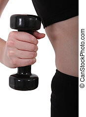 close-up of a hand taking a dumbbell