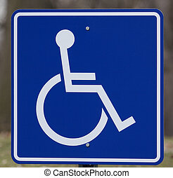 Handicap Sign - Close Up of A Handicap Sign