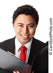 Close up of a handsome businessman