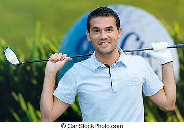 close up of a happy golfer