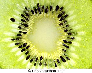Close up of a healthy kiwi fruit