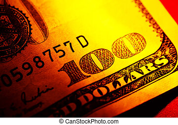 Hundred Dollar Bill - Close Up of a Hundred Dollar Bill