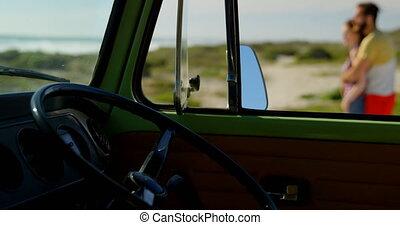Close-up of a interior of van 4k