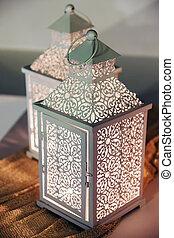 close up of a lantern,