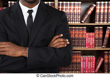 Close-up Of A Lawyer In Office