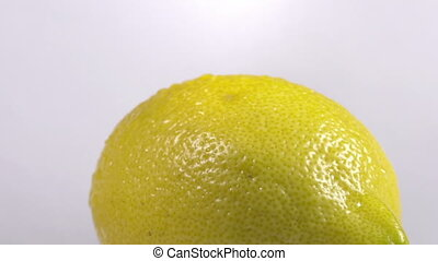 Close-up of a lemon rotating