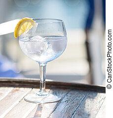 close-up of a lemonade