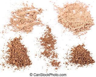 Close up of a make up powder on white