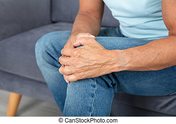Man Having Knee Pain