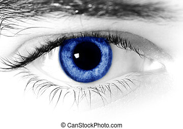eyes - Close up of a mans blue eyes