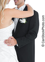 Close up of a married couple dancing Viennese waltz