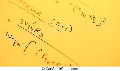 Mathematical Background - Close up of a Mathematical...