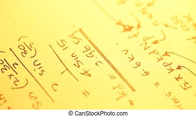 Mathematical Background - Close up of a Mathematical...