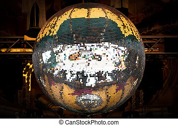 Close up of a mirror ball