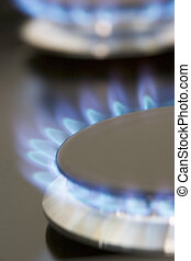 Close Up Of A Natural Gas Stove