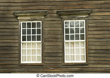 Close up of a pair of windows