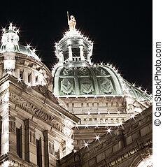 Close up of a Parliament Building